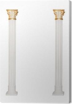 Tableau sur toile Grec colonne architectural isolé sur fond blanc