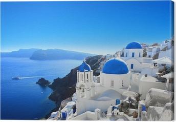 Tableau sur toile Grèce - Santorin (Oia village)