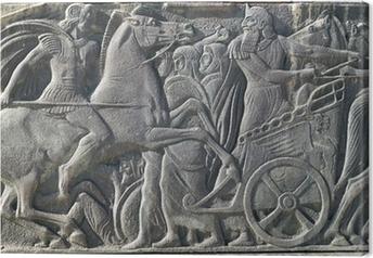 Tableau sur toile Grecque antique plaque ressemblent à Alexandre le Grand monument à Thessa