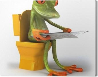 Tableaux sur toile humour toilette pixers nous vivons - Tableau humoristique pour wc ...
