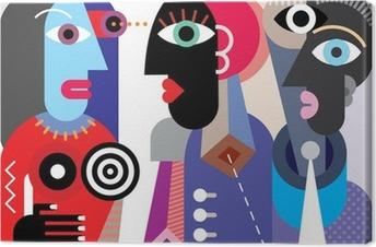 Tableau sur toile Groupe de personnes parlant