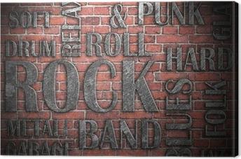 Tableau sur toile Grunge affiche de musique rock
