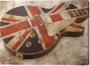 Tableau sur toile Grunge brit pop guitare