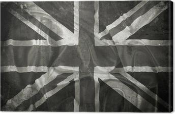Tableau sur toile Grunge Union Jack drapeau fond