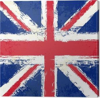 Tableau sur toile Grunge Union Jack