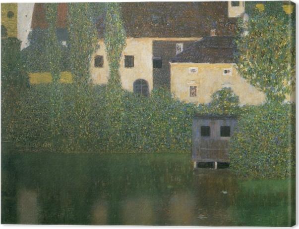 Tableau sur toile Gustav Klimt - Château Kammer sur le lac Atter - Reproductions