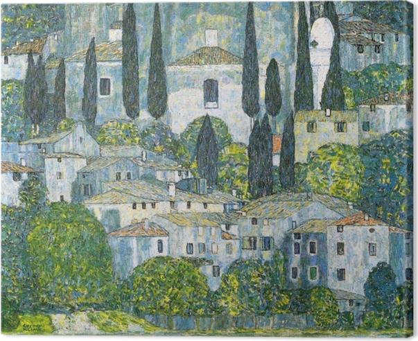 Tableau sur toile Gustav Klimt - Eglise de Cassone - Reproductions