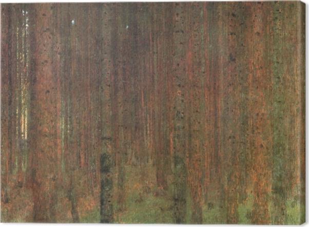 Tableau sur toile Gustav Klimt - Forêt de pins - Reproductions