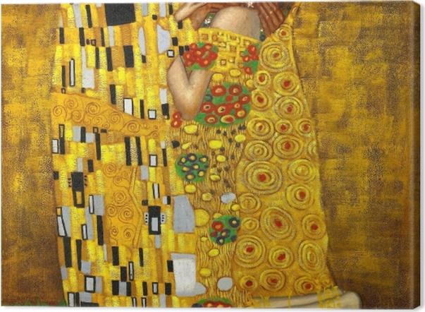 Tableau sur toile Gustav Klimt - Le Baiser - Reproductions