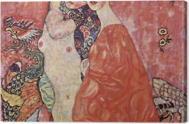 Tableau sur toile Gustav Klimt - Les Amies - Reproductions