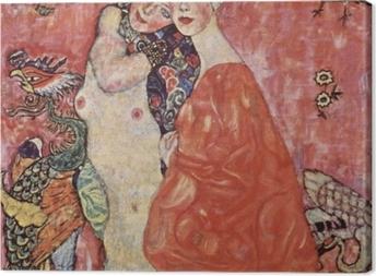 Tableau sur toile Gustav Klimt - Les Amies
