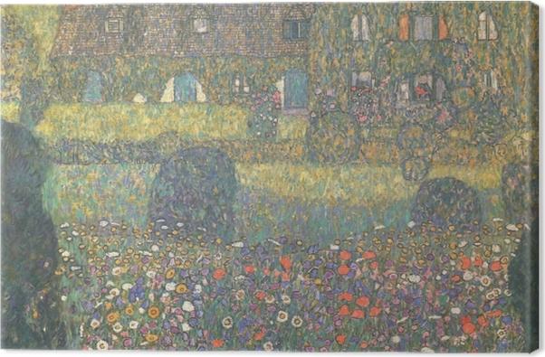 Tableau sur toile Gustav Klimt - Maison de campagne près de l'Attersee - Reproductions