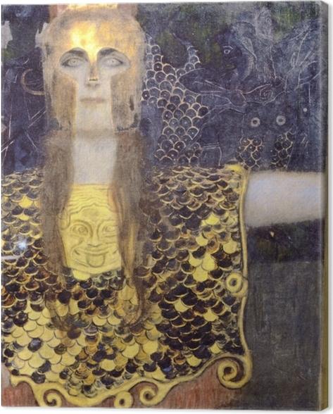 Tableau sur toile Gustav Klimt - Pallas Athéna - Reproductions