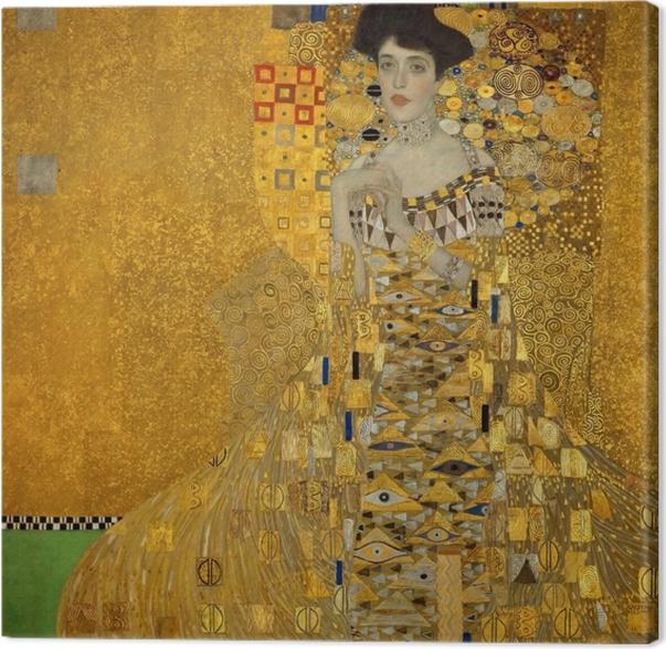Tableau sur toile Gustav Klimt - Portrait d'Adele Bloch-Bauer - Reproductions