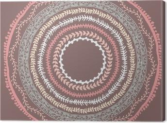 Tableau sur toile Hand drawn cadre de style Boho avec une place pour le texte.