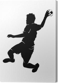 Tableau sur toile Handballer