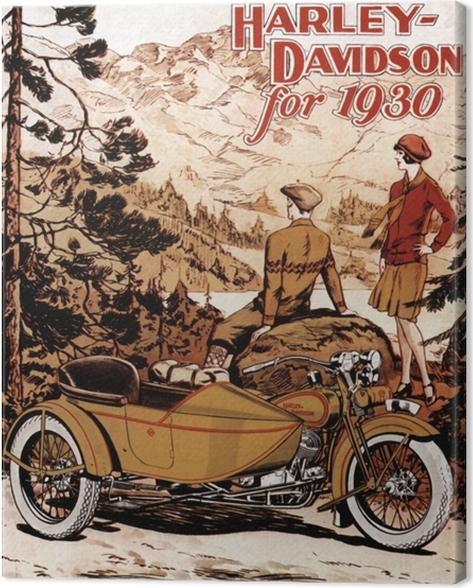 Tableau sur toile Harley Davidson - Thèmes