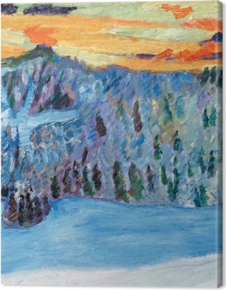 Tableau sur toile Helmer Osslund - Paysage d'hiver, Näsåker - Reproductions