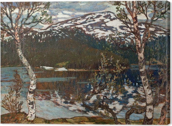 Tableau sur toile Helmer Osslund - Printemps au lac de Rensjön près d'Åre - Reproductions