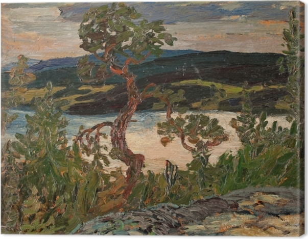 Tableau sur toile Helmer Osslund - Soirée à Ångermanland - Reproductions