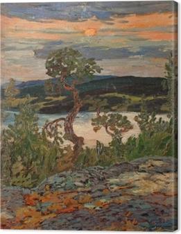 Tableau sur toile Helmer Osslund - Soirée à Ångermanland