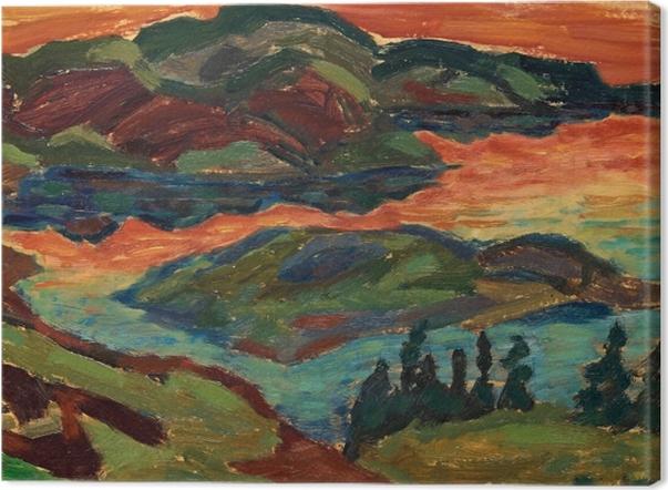 Tableau sur toile Helmer Osslund - Soirée au fleuve Ljungan - Reproductions