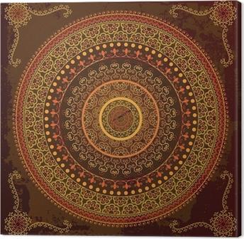Tableau sur toile Henna mandala design - Très détaillée et facilement modifiable