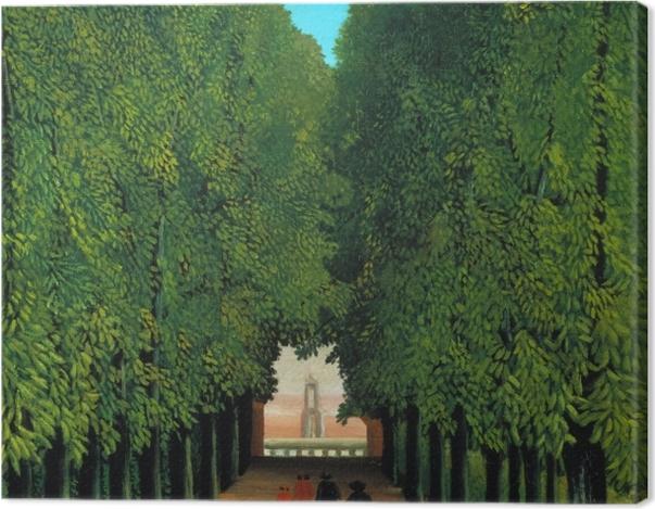 Tableau sur toile Henri Rousseau - Allée au parc de Saint-Cloud - Reproductions