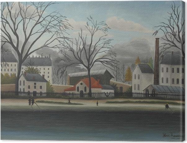 Tableau sur toile Henri Rousseau - Banlieue - Reproductions