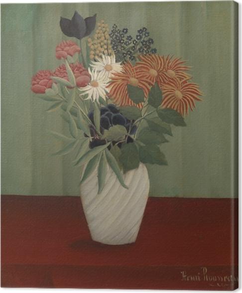 Tableau sur toile Henri Rousseau - Bouquet de fleurs - Reproductions