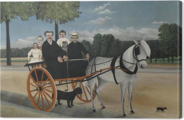 Tableau sur toile Henri Rousseau - La Carriole du père Junier - Reproductions
