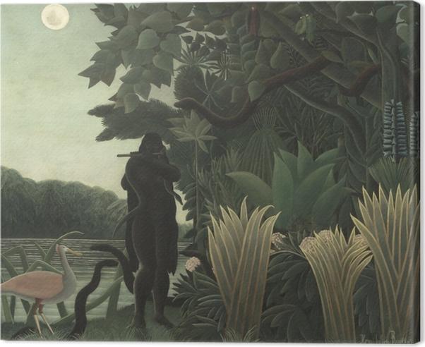Tableau sur toile Henri Rousseau - La Charmeuse de serpents - Reproductions