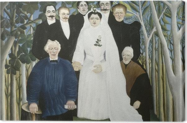 Tableau sur toile Henri Rousseau - La noce - Reproductions