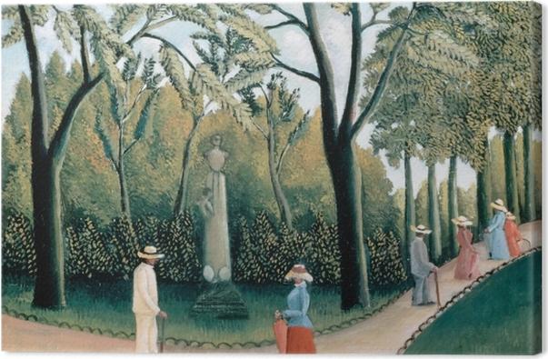 Tableau sur toile Henri Rousseau - Le Monument de Chopin dans les jardins du Luxembourg - Reproductions