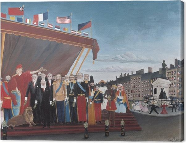 Tableau sur toile Henri Rousseau - Les représentants des puissances étrangères venant saluer la République en signe de paix - Reproductions