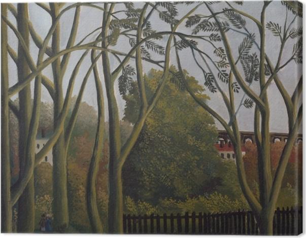 Tableau sur toile Henri Rousseau - Les rives de la Bièvre près de Bicêtre - Reproductions