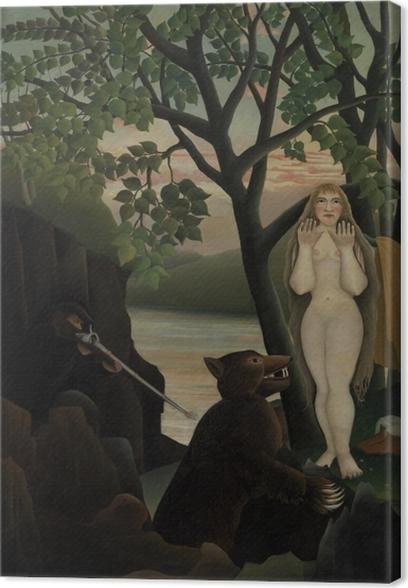 Tableau sur toile Henri Rousseau - Mauvaise surprise - Reproductions