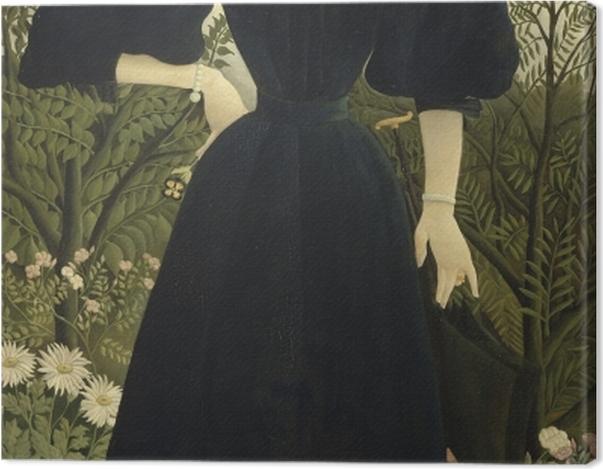 Tableau sur toile Henri Rousseau - Portrait de Madame M. - Reproductions