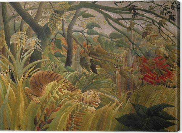 Tableau sur toile Henri Rousseau - Tigre dans une tempête tropicale (Surpris!) - Reproductions