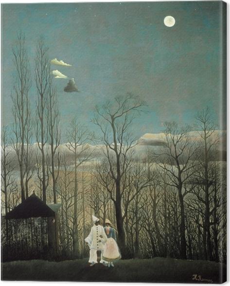 Tableau sur toile Henri Rousseau - Une soirée au carnaval - Reproductions