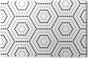 Tableau sur toile Hexagones texture avec des points. Vecteur Seamless géométrique
