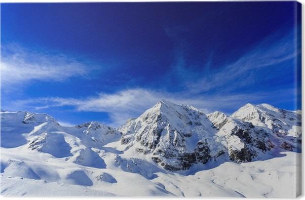 tableau sur toile hiver sommets des montagnes enneig es des alpes pixers nous vivons pour. Black Bedroom Furniture Sets. Home Design Ideas