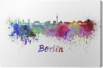 Tableau sur toile Horizon de Berlin à l'aquarelle