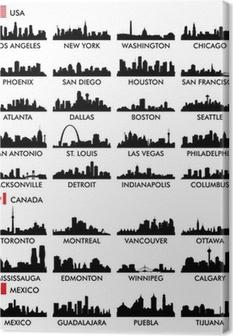 Tableau sur toile Horizon de la ville en Amérique du Nord