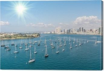 Tableau sur toile Horizon de San Diego et Waterfront