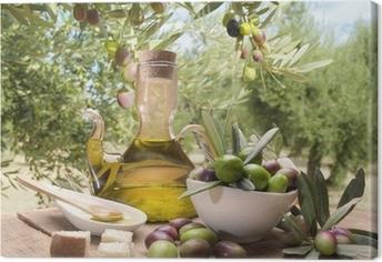 Tableau sur toile Huile et d'olives