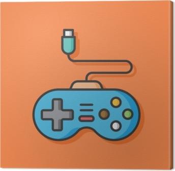 Tableau sur toile Icône de vecteur de contrôleur de jeu