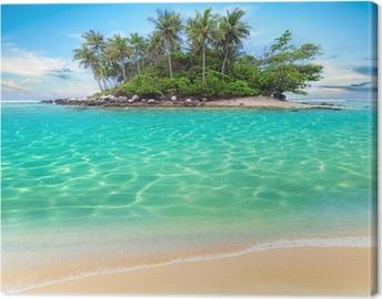 Tableau sur toile Île tropicale et la plage de sable exotique fond de voyage