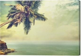 Tableau sur toile Île tropicale