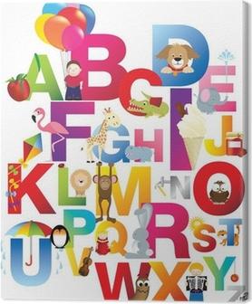 tableaux sur toile alphabet pixers nous vivons pour. Black Bedroom Furniture Sets. Home Design Ideas